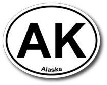 Alaska Oval Shaped Bumper Sticker